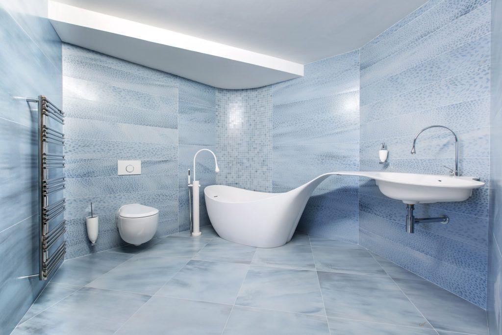 minimalistyczna łazieka z salonu łazienek